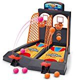 Basketball Shooting Game, YUYUGO 2-Player Desktop Table Basketball Games Classic Arcade Games Basketball Hoop Set, Fun Sports Toy for Adults-Help Reduce Stress   Shoot, Score! First to score six points wins. Complete kit ready to play instantly.Basketball Game for Kids Shoot Baskets by pressing...