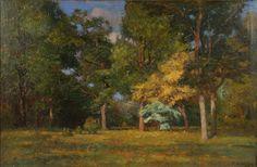 T.C. Steele Indiana Impressionist Landscape 1906