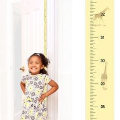 Patent Pending Mom Approved George the Giraffe PeekaBoo Growth Charts Track & Measure your Kid's Height. Fits in Standard Door Jamb, Removable & Reusable, Self-Adhesive [72 x 1.25 Inches] available on Etsy, Amazon, Ebay and www.momapproved.net