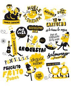En este encargo realicé el diseño de la imagen gráfica para los murales decorativos de la franquicia y la realización de los murales en las paredes de sus dos locales, el de la Calle Asunción en el Barrio de los Remedios de Sevilla y otro en la zona de Se…