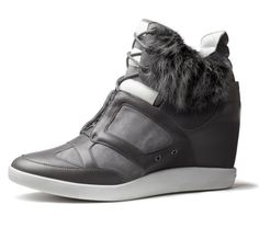 Y-3's furry take on the wedge sneaker trend, available in stores this August.