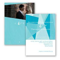 Harmony of Love Wedding Invitation by David's Bridal. #davidsbridal #weddinginvitation #bluewedding