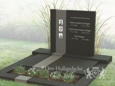 Dubbel grafmonument foto 1 Grave Monuments, Cemetery Headstones, Tombstone Designs, Cemetery Decorations, Modern Design, Headstone Ideas, Funeral Ideas, Memorial Ideas, Industrial Design