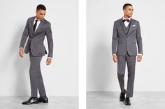 Find the right suit color for your look with our simple guide to men's wedding suits, complete with tips and inspiration for choosing wedding suits for men. Celebrity Wedding Photos, Celebrity Weddings, Wedding Men, Wedding Suits, Black Tux, Groom Outfit, Mens Suits, Suit Jacket, Celebrities