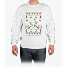 Fireman Merry Christmas T Shirt Long Sleeve T-Shirt