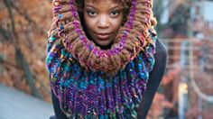 Underwater Forest Chunky Oversized Cowl