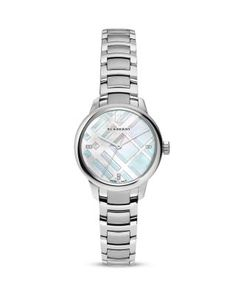 beveled mop mosaic - Burberry Diamond Dial Watch, 32mm | Bloomingdale's
