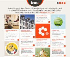 Pintrest style portfolio site  http://www.truedigital.co.uk/