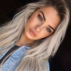 How to Hide Acne and Pimple Perfectly With Makeup - Page 2 of 3 - Trend To Wear - #acne #Hide #Makeup #Page #Perfectly #pimple #Trend #Wear Pretty Hairstyles, Blonde Dark Roots, Icy Blonde, Blonde Hair With Dark Eyebrows, Platnium Blonde Hair, Dark Hair, White Blonde, Skin Makeup, Beauty Makeup
