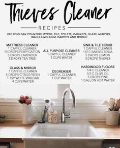 Essential Oil Cleaner, Thieves Essential Oil, Essential Oils Cleaning, Essential Oil Diffuser Blends, Essential Oil Uses, Young Living Oils, Young Living Essential Oils, Young Living Thieves, Elixir Floral