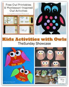 Kids Activities with Owls via JDaniel4's Mom