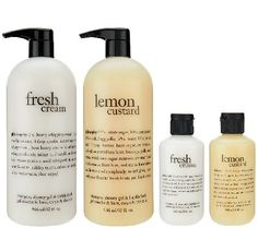 philosophy sweet & creamy 4 piece shower gel collection