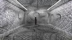 Austrian artist Peter Kogler has been creating some of the most visually warped, mind-bending rooms with dizzying patterns for over 30 years.