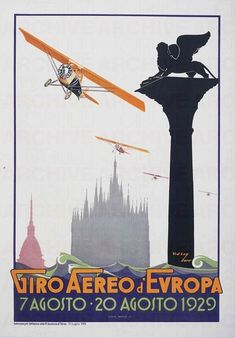 Umberto Di Lazzaro Giro aereo d'Europa , 1929