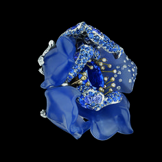 "another angle, ""Bal Bleu Nuit"" - Blue Night ring, Le Bal de Roses, Victoire de Castellane, Christian Dior"