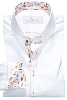 Maßhemd 3636/01-Ansicht1 Formal Shirts For Men, Casual Shirts, Kurta Pajama Men, Mens Designer Shirts, African Clothing For Men, Indian Men Fashion, Camisa Formal, Printed Shirts, Men Dress
