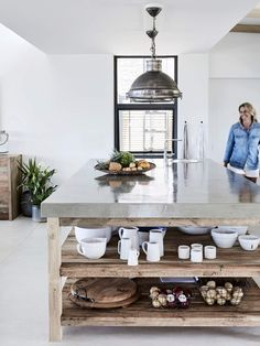 Wood and White in this South African Beach House From the home's actual structure to its inner walls, floors, rafters, and everything in between, this home is woodsy to say the least. Home Decor Kitchen, Interior Design Kitchen, Modern Interior Design, Interior Decorating, Decorating Blogs, White House Interior, Contemporary Interior, Interior Paint, Interior Ideas