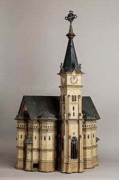 very rare antique hamster cage in the shape of a bavarian baroque church 1868 - pinned for my grandson JJ Miniature Houses, Miniature Rooms, Hamsters, Tabletop, Decorative Objects, Decorative Accents, Little Houses, Rare Antique, Art And Architecture