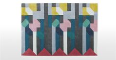 Merida Teppich, 170 x 240 cm in Blau   made.com