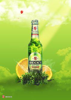BECK'S green lemon by RomiSh