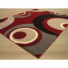 @Overstock - Give your home or office an update with this contemporary red, grey and black polypropylene rug. This rug can really tie your room together.   http://www.overstock.com/Home-Garden/Dunes-Red-Grey-Rug-53-x-77/6608825/product.html?CID=214117 $171.99
