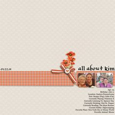 """All About Kim"" Digital Scrapbook Page"