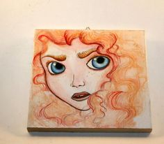 Merida Brave Disney Painting by Piratekiki on Etsy, $20.00
