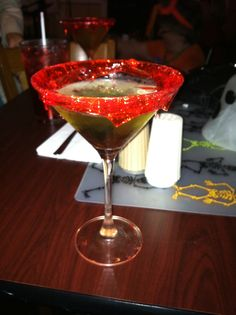 candy apple martini...always need a signature drink!