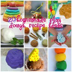 20 homemade play dough recipe ideas
