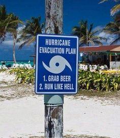 Funny Hurricane Evacuation Sign