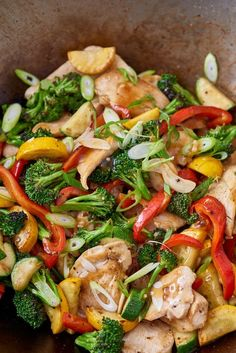 This honey garlic chicken stir-fry is one of the best way to utilize your frozen chicken breast. This dish is inspired by the basic method for chicken stir-fry and so quick to make, you'll only spend half the hour making it. For this honey-garlic chicken stir-fry recipe, you'll need low-sodium chicken broth, tamari or soy sauce, honey, Asian sesame oil, canola oil, boneless, skinless chicken breast, broccoli crown, zucchini or summer squash and cooked rice or noodles for serving.