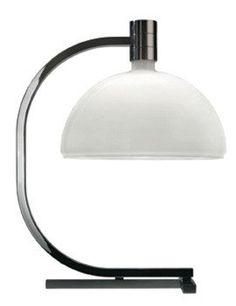 Tafellamp - AS1C - 50x40 - Chroom, mat glas wit