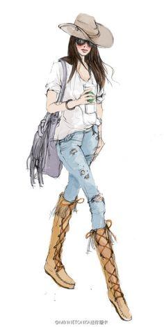 искусство, кутюрье, нарисованное, рисунок, мода, модные картинки, иллюстрация, эскиз