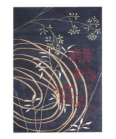 Look at this #zulilyfind! Blue & Yellow Abstract Wool Rug by Alliyah Rugs #zulilyfinds