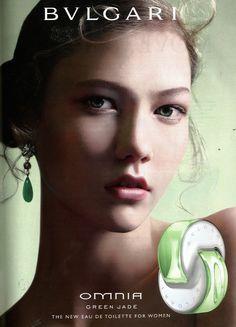 karlie kloss Bulgari Omnia Green Jade Fragrance S/S 09 (Bulgari)