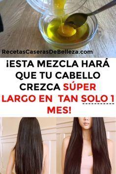 CRECER TU CABELLO EN UN MES #cabello #crecimientocapilar #recetascaserasdebelleza