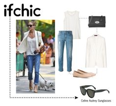"""""""Olivia Palermo in skinny jeans"""" by smartbuyglasses ❤ liked on Polyvore featuring Loro Piana, Mulberry, rag & bone, STELLA McCARTNEY, Chloé and CÉLINE"""
