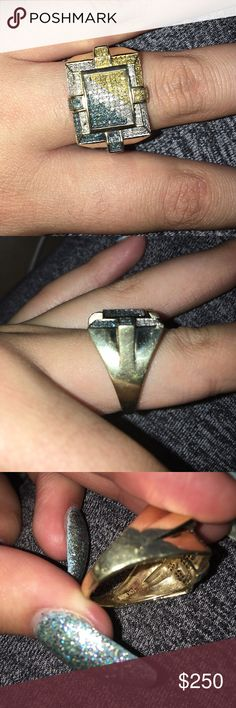 10k gold ring 10k gold ring. Needs a cleaning but other than that it's in good condition. Jewelry Rings