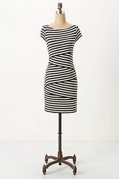 cap sleeve column dress Anthropologie
