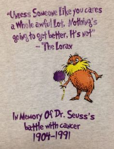 Unisex T Shirt Dr Suess Cancer L Grey Relay for Life Gildan Cotton Blend Crew | eBay