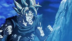 Super Saiyan Blue Goku surprise of Super Saiyan Blue Vegeta Powering up