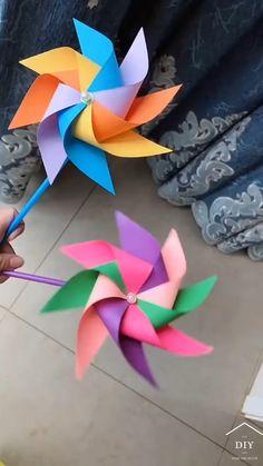 Paper Flowers Craft, Paper Crafts Origami, Diy Crafts Hacks, Diy Crafts For Gifts, Paper Crafts For Kids, Diy Home Crafts, Diy Arts And Crafts, Creative Crafts, Preschool Crafts