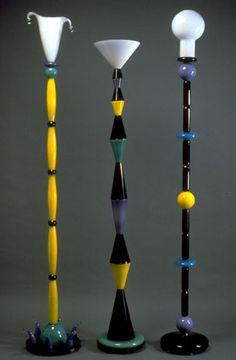 Art-Glass Floor Lamps by Lisa Schwartz & Kurt Swanson at 'PinkwaterGlass' ♥≻★≺♥