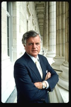 "Senator Ted Kennedy's official portrait in an interesting contrast to his older brothers' Senate portrait a few decades earlier.❋ ❤❀❤❁❤✿❤❁❤❀❤❋   Edward Moore ""Ted"" Kennedy (February 22, 1932 – August 25, 2009)   http://en.wikipedia.org/wiki/Ted_Kennedy"