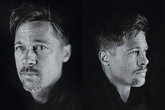 Brad Pitt by Chuck Close for W