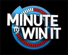 """Minute to Win It"" Games for Kids!--family reunion?"