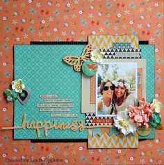 Hello everyone.....Happy weekend to you all :)      Today I have another layout to share for All About Scrapbooks , again using the super ...