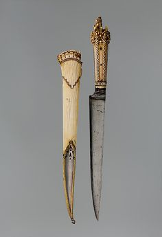 Dagger and sheath Date: ca. 1650–1700 Culture: Nepalese Medium: Ivory, steel, silver - Rgrips.com