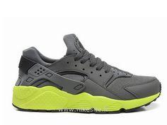 Nike Air Huarache Homme Gris et Vert Nike Air Huarache Homme