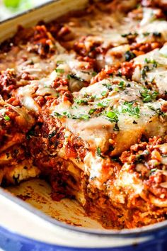 The Best Lasagna Recipe ever! I will never make another lasagna recipe again! It's rich, satisfying, comforting, flavorful, and perfectly proportioned! Each and every bite is hot, meaty, cheesy, saucy perfection. There's also detailed instructions on how to make lasagna ahead of time as well as how to freeze lasagna. #lasagna #recipe #Italianrecipes #bestlasagna #meatlasagna #classiclasagna #homemadelasagna #Italianfood via @carlsbadcraving